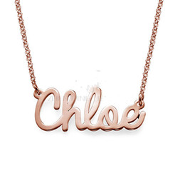 $enCountryForm.capitalKeyWord Australia - 316L stainless steel Personalize Cursive name necklace Customized necklace with black bag locket necklaces chains for women