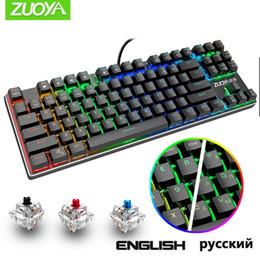 Mechanical Keyboard 87 keys Anti-ghosting MIX RGB Backlit Gaming Keyboard Blue Black Red Switch Wired USB For Gamer PC Laptop