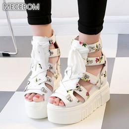 $enCountryForm.capitalKeyWord Australia - Spring Women Sandals High Heel Casual Ethnic Flower Floral Open Toe Wedges Platform Height Increasing Chunky Ladies Shoes 0523w Y19070503