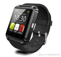 Samsung U8 Smart Watch Australia - Smartwatch U8 U Watches Smart Watch Wrist Watches support iPhone 4 4S 5 5S Samsung S4 S5 Note 2 Note 3 HTC Android Phone wearable technology