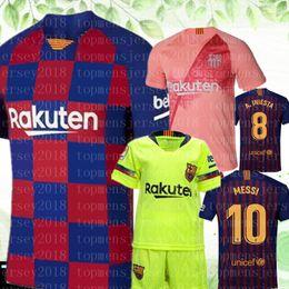 04e2bc01c 2020 MESSI Soccer Jerseys Suárez A.INIESTA DEMBELE COUTINHO Soccer Shirts  Barcelona football WOMEN man Kids Kits