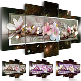 $enCountryForm.capitalKeyWord Australia - Modern Oil Painting on Canvas Abstract Flowers Home Decor Magnolia Flowers Decorative Oil Painting on Canvas Wall Art Flower Picture for Liv