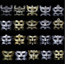 $enCountryForm.capitalKeyWord Australia - Men Adult Masquerade Mask Classic Retro Greek Roman Soldier Gladiator Mask Party Masquerade Ball Mardi Gras Facial Eye Mask Gold and Silve