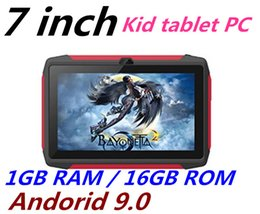 tablet pc 16gb Australia - FREE DHL kid Tablet PC Q98 Quad Core 7 Inch 1024*600 HD screen Android 9.0 AllWinner A50 real 1GB RAM 16GB Q8 with Bluetooth wifi