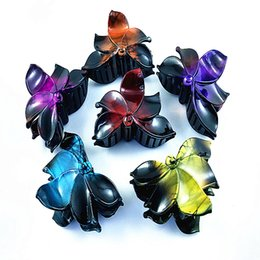 Flower Hair Clip Vintage Australia - Fashion Women's Plastic Hairpin Vintage Flower Hair Pin Barrette Hair Clip Accessories