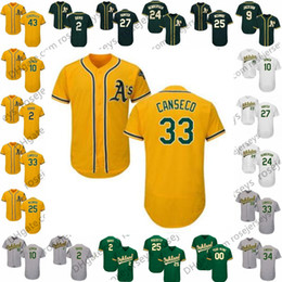 Chinese  2019 Athletics Jersey Oakland #25 Mcgwire 27 Catfish Hunter 33 Jose Canseco 34 Rollie Fingers 42 Dave Henderson 43 Dennis Eckersley Mark manufacturers