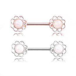 $enCountryForm.capitalKeyWord UK - Stainless Steel Flower Nipple Ring Barbell Bars Helix Pircing Body Jeweley Piercing Earring Women