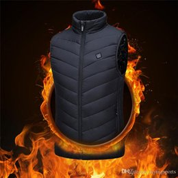 outdoor camping vests UK - Heating Vest Washable Usb Charging Heating Warm Vest Control Temperature Outdoor Camping Hiking Golf (Without Battery)