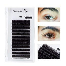 Eyelashes D Curl NZ - Seashine Wholesale price Volume Eyelash Extension Classic Eyelashes Individual Eyelashes Makeup Tool Korea Fiber 1 Trays C D Curl 8-15mm