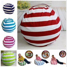 plush toy beans UK - 16 Inch Kids Storage Bean Bags Plush Toys Beanbag Chair Bedroom Stuffed Animal Room Mats Portable Clothes Storage Bag 50pcs OOA4434