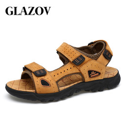 $enCountryForm.capitalKeyWord Australia - GLAZOV Hot Sale New Fashion Summer Leisure Beach Men Shoes High Quality Leather Sandals The Big Yards Men's Sandals Size 39-47