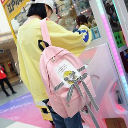 Bow Old Australia - Lucky2019 Schoolgirl Bag A Campus Original Old Ulzzang Tide Backpack Hit Color Bow Girl Personality Both Shoulders Package