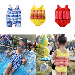 $enCountryForm.capitalKeyWord Australia - Kids Girls Swimwears Printed Floating Swimsuits Boy Swimming Training Suit Kids Beach Diving Clothes Striped Dot Whale 3 Designs DHW3232