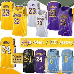 26a1ac4f874 Kobe Jersey 24 Canada - LeBron 23 James Jersey Los Angeles 24 Kobe 8 Bryant  Kyle
