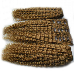 Clip Human Hair Extensions Remy 24 UK - Hair Product Clip In Human Hair Extensions 100g Set Afro Kinky Curly Clip Ins Brazilian Remy Hair Full Head 8 Pcs Lot