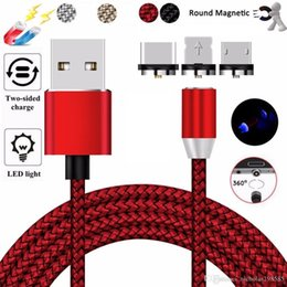 $enCountryForm.capitalKeyWord Australia - 360 Stronger Metal Magnetic Charger Cable 1M 2A Fast Charging Braided Type C Micro USB Magnet Cord For Android Samsung HTC Smartphone