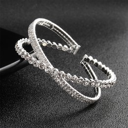 silver knot cuff bracelet Australia - 2019 new simple bangles & bangles for women's jewelry cuff Multilayer Round Knot Metal Bracelet Geometry