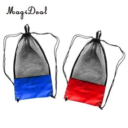 """$enCountryForm.capitalKeyWord NZ - MagiDeal 2 Pieces Mesh Drawstring Bag Pouch Backpack Bag for Swimming SCUBA Diving Snorkeling Mask Fins Goggles Gear 29""""x13"""""""
