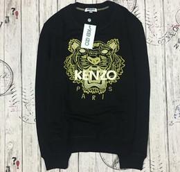 Venta al por mayor de Marca de alta calidad K * O Paris Suéter de tigre bordado puro algodón O-cuello suéter Terry sweatershirt original