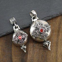 $enCountryForm.capitalKeyWord NZ - 925 Solid Sterling Silver Fashion JewelryDorje Om Mani Padme Hum Prayer Box Locket Pendant A2523
