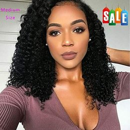 Glueless Lace Front Wigs 14 Australia - Lace Front Curly Human Hair Wigs for Women Brazilian Human Hair Glueless full lace black culry Wigs Natural Color (14 inch)