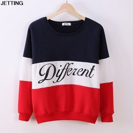 $enCountryForm.capitalKeyWord NZ - 2015 Women Pullover Hoodies Letters Diffferent Printed Mix Color Casual Sweatshirt Women Fleece Sweatshirts Sudaderas Mujer