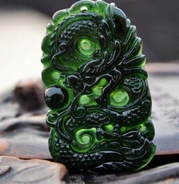 $enCountryForm.capitalKeyWord Australia - Moyu Jade Dragon Pendant Men's Jade Pendant Zodiac Dragon Jade Pendant Necklace