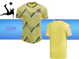 abb710110 2019 Copa America Colombia soccer Jersey Colombia Home yellow Soccer shirt  19 20 Copa America Match  10 JAMES Thai Football uniform
