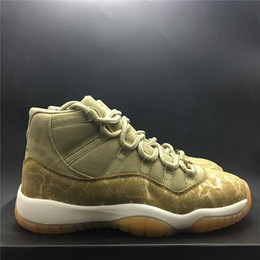 Discount carbon fiber table - New Released Neutral Olive 11 Basketball Shoe 2018 Mens Real Fiber Carbon Women Sport Shoe Athletic Sneakers Size 36-43