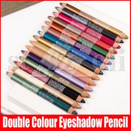 New 47 Colors Face Makeup Pen Double Colour Eyeshadow Eyeliner Highlighter Pencil 2 in 1 Eye Shadow Make Up on Sale
