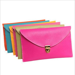 Wholesale Hand Bags Free Shipping Australia - 100pcs lot Free Shipping Hot Women 12 Colors Envelope bags Clutch Chain Purse Lady Hand bag Shoulder girl Hand Bag Gift