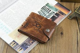 Mens Leather Casual Card Australia - 501 2019 NEW Mens Leather ID Card Holder Billfold Purse Wallet Handbag solid bag casual small light hot