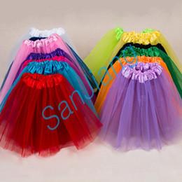 INS 2-8T Girls Tutu Skirt Summer Pleated Gauzy Tutus Short Bubble Skirts Mesh Dresses Party Dance Ballet Dress Kids Clothing Bottom E3609 on Sale