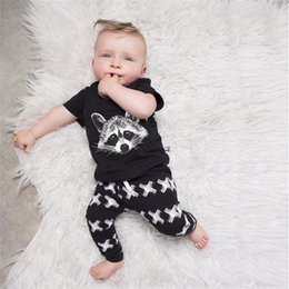 $enCountryForm.capitalKeyWord Australia - Baby Boys Clothing Sets Baby Girls Boys Fox Cotton Tops T-shirt+Pants Leggings 2pcs Outfits Set Costume Boys Clothes