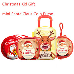 wholesale designer purse bag NZ - New Christmas Clutch Wallet Santa Claus Coin Purse For Candy Children Pocket Small Pouch Zip Coin Bag Mini Luggage Case Kids' Gift
