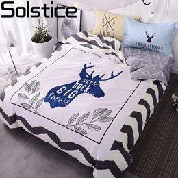 Home Textile Songkaum 100% Cotton Bedding Set Flower Cartoon Duvet Cover Bed Sheet Bedlinen Bedclothes Pillowcase Queen Size Attractive Designs;