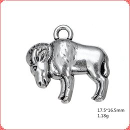$enCountryForm.capitalKeyWord UK - 30pcs Antique vintage tibetan silver Buffalo bullfight charms metal dangle alloy pendants for necklace bracelet earring diy jewelry making