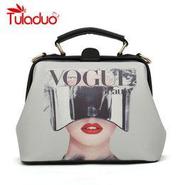 Ladies Handbags For Office Australia - Designer Women Handbags Fashion Printing Character Doctor Bags Luxury Office Crossbody Bags For Lady Female Top-handle Bolsas