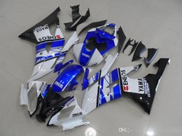 R6 White Blue Australia - 4 Free Gifts New Injection ABS Fairing kit 100% Fit for YAMAHA YZFR6 08 09 10 11 12 13 14 15 YZF R6 2008-2015 YZF600 set blue white ENEOS