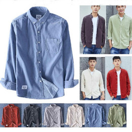 Wholesale colored collar shirt resale online – Spring Light colored Corduroy Shirt Cotton Corduroy Long sleeved Shirt Male Fashion Casual Cotton Brand
