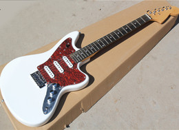 $enCountryForm.capitalKeyWord Australia - Factory direct sale 22 frets white electric guitar with rosewood fingerboard,Red pearl pickguard,SSS pickups,Can be customized