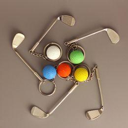 $enCountryForm.capitalKeyWord Australia - 2019 Wholesale New Creative Sports Memorabilia Golf Key Ring Simulation Club Alloy Pendant Keychain Sports Accessories Gift