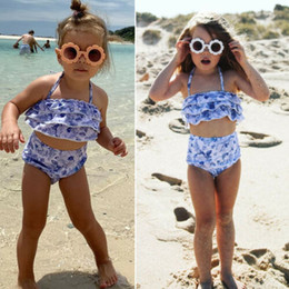 cac80875a2c60 2019 Summer Kids Baby Girls Swimwear Bikini Tankini Swimsuit Swimming Beachwear  Costume