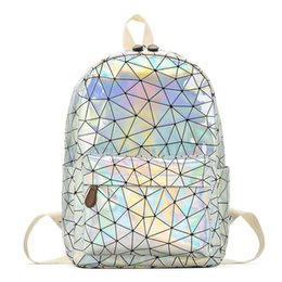 $enCountryForm.capitalKeyWord Australia - Holographic Women's Bag Hologram Leather Female Fashion Travel Backpack Laser For Girl School Casucal Bag Pack Mochila Feminina