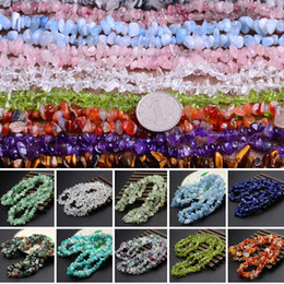 Wholesale 85cm Natural Stone Beads For DIY Necklace Bracelet Earrings Jewelry Making holes Irregular Shape Gravel Chip Bead 5-8mm