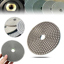 granite glasses Canada - 5 inch Diamond Polishing Pads Grit 50-6000 Grits Wet   Dry Sanding Disc for Marble Concrete Granite Glass New 1 pcs Tools