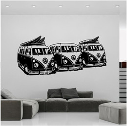 cars decor for kids room 2020 - Art Design Wall Sticker 3 Volkswagen Surf Home Decor DIY Car Wall Decals House Decoration Mural cheap cars decor for kid