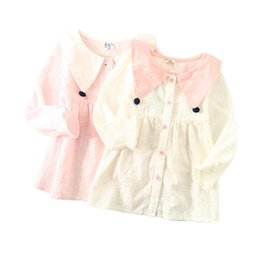a9a61b97 Kids Girl Shirt Girl Casual Shirt Children Easter Day Rabbit Embroidery  Turndown Collar Long Sleeve Button Closure 6