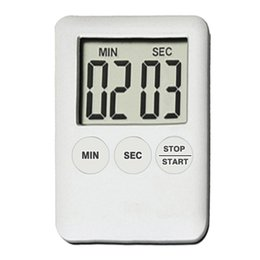 Lcd Kitchen Clock Australia - Rectangle LCD 100 Mins Digitale Kitchen Timer Cooking Timer Alarm Clock Ultrathin Countdown Time Counter Table Clock 2 Colors