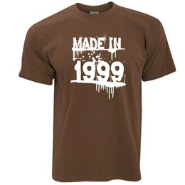 Birthday T Shirt Made In 1999 Graffiti Paint Splatter Gift Idea Novelty Funny Free Shipping Unisex Casual Top